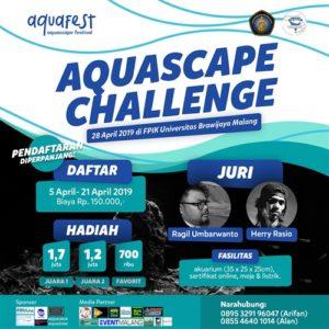 Aquafest 2019 : Aquascape Challenge