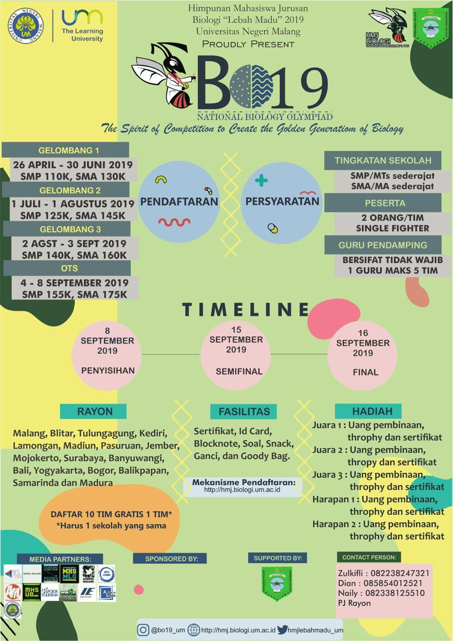 National Biology Olympiad (BO 19)