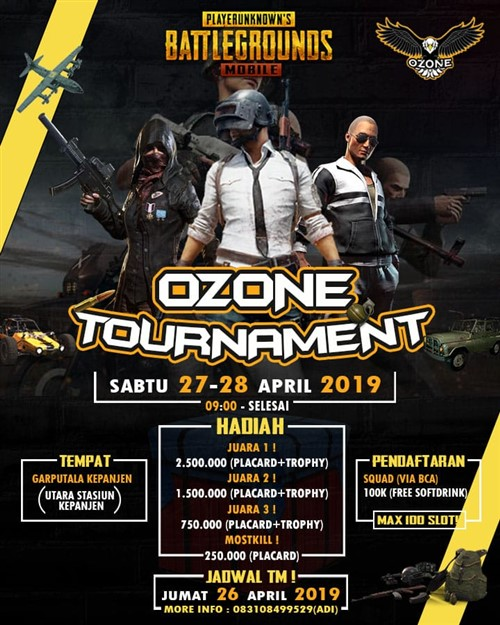 "Ozone PUBGM Offline Tournamnet ""Cooperation Brings You to Victory"""