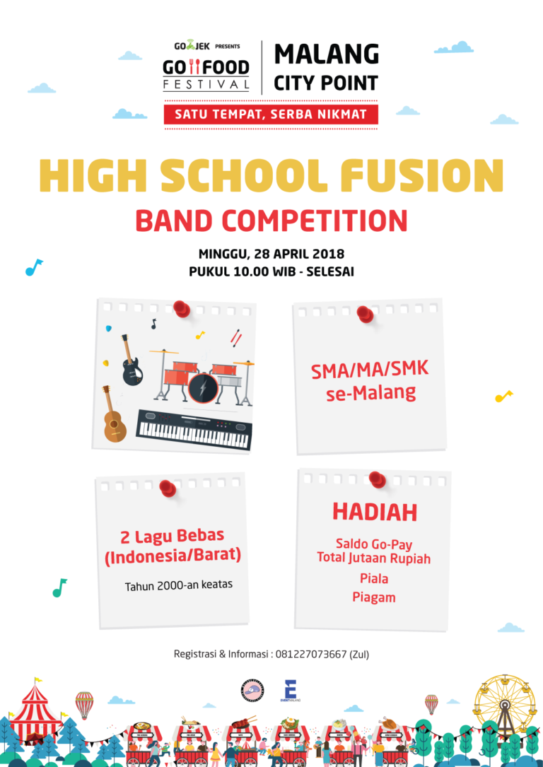 High School Fusion Band Competition At Gofood Festival