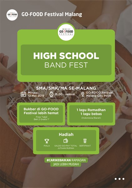 "Go-Food Festival Malang ""Hight School Band Fest"""