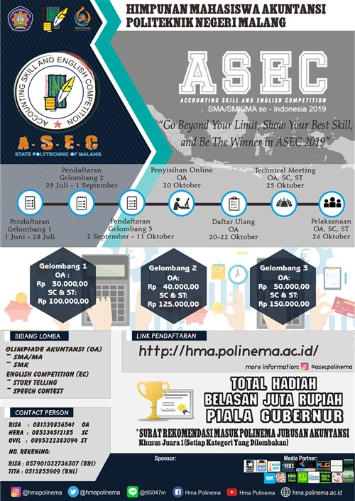 ASEC, Accounting Skill and English Competition