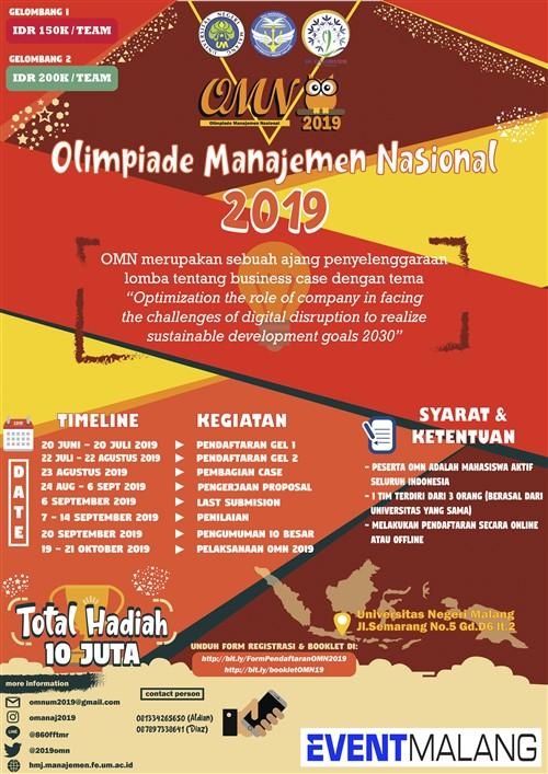 Olimpiade Manajemen Nasional 2019