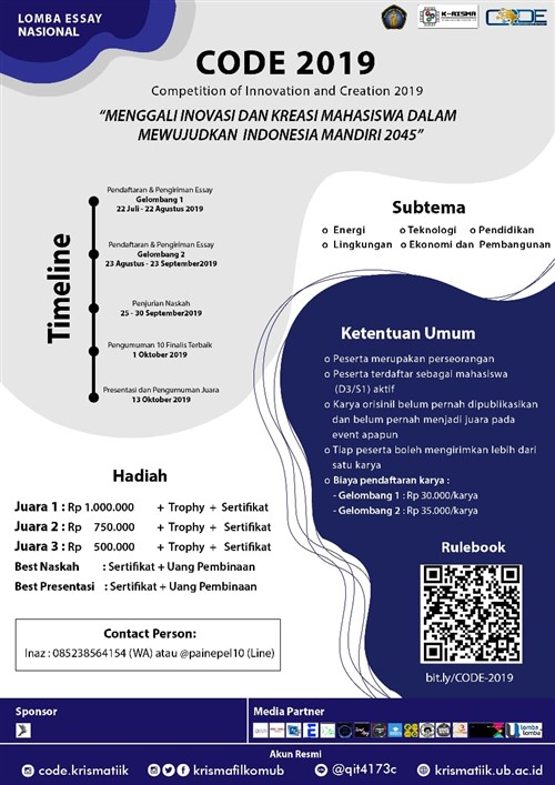 CODE 2019 : Lomba Essay Nasional 2019