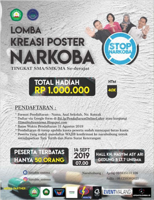 """Lomba Kreasi Poster """"Narkoba"""""""