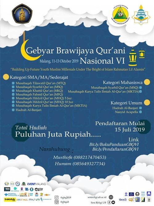 Gebyar Brawijaya Qur'ani Nasional VI 2019