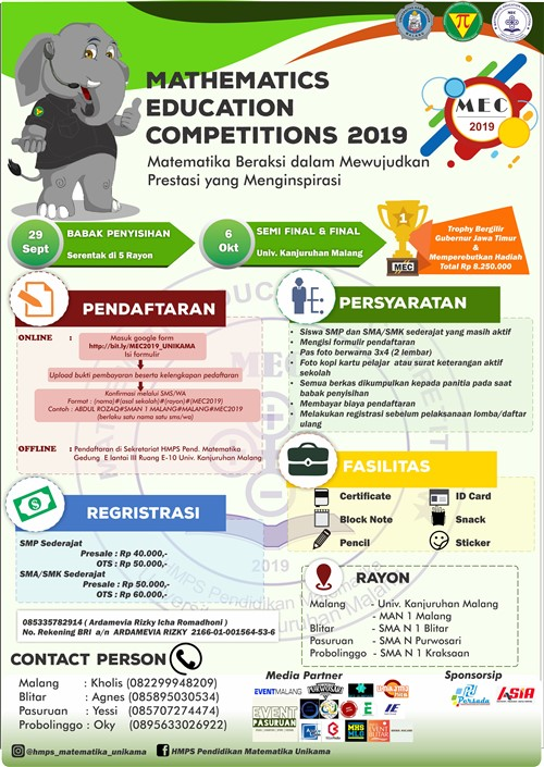 Mathematics Education Competition 2019