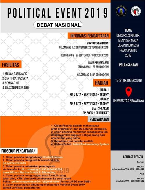 Political Event 2019 : Debat Nasional