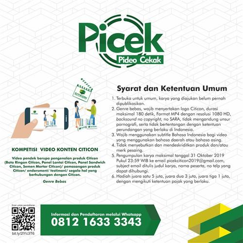 Pideo Cekak (Picek) : Kompetisi Video Konten Citicon