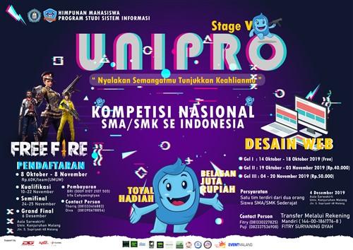 """Stage V : Unipro """"Nyalakan Semangatmu Tunjukkan Keahlianmu"""""""