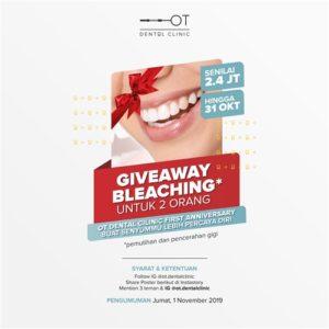 Giveaway Bleaching Untuk 2 Orang OT Dental Clinic