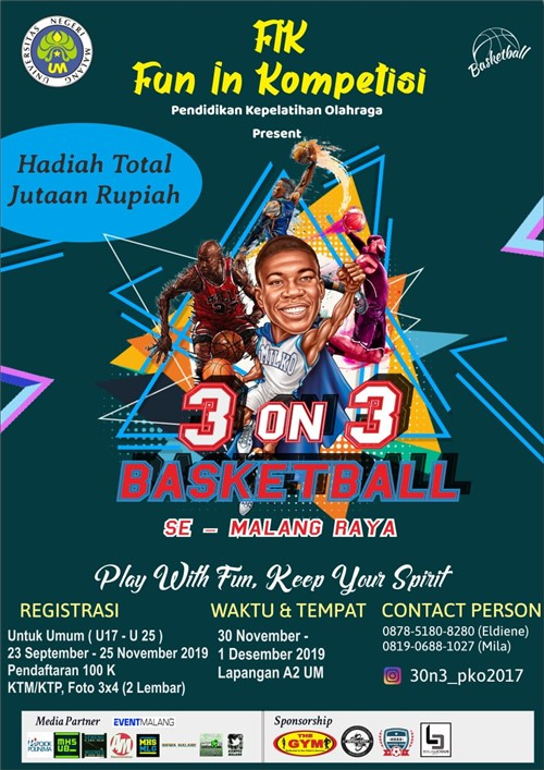 FIK, Fun in Kompetisi 3 On 3 Basketball Se – Malang Raya