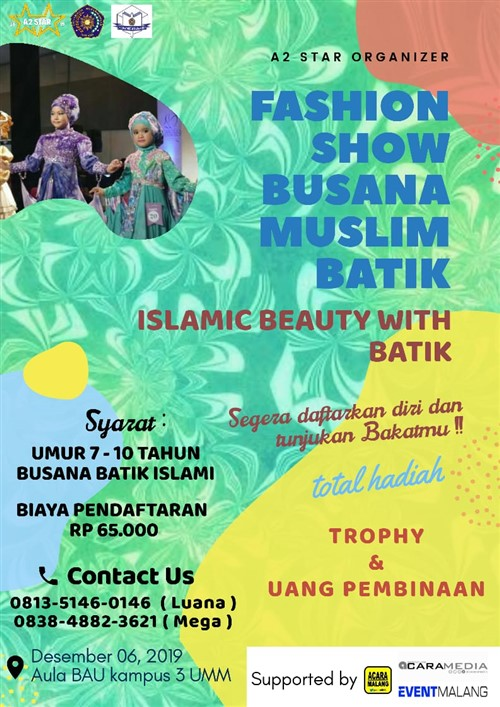 Fashion Show Busana Muslim Batik, Islamic Beauty with Batik
