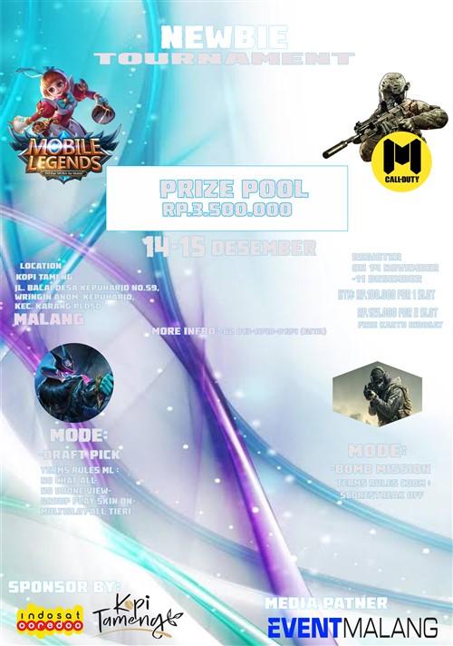 Newbie Tournament : Mobile Legends & Call of Duty Mobile