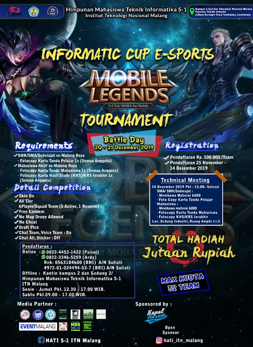 Informatic Cup E-Sports Mobile Legens