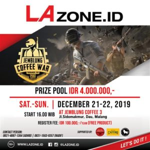 Lazoneid : Jemblung Coffe War Tournament PUBG 2019