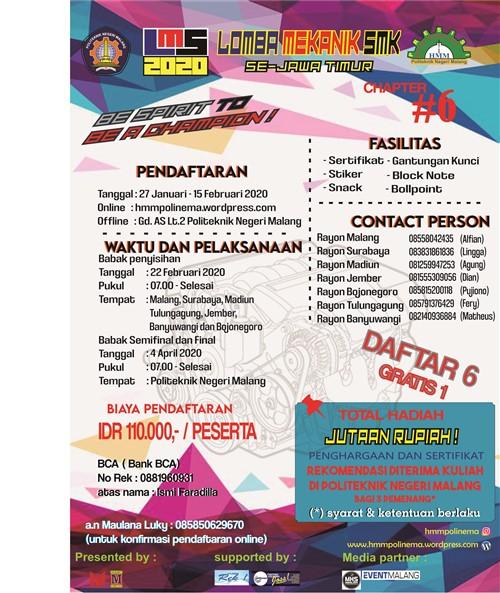 Lomba Mekanik SMK Se-Jatim Himpunan Mahasiswa Mesin Politeknik Negeri Malang FEB 2020