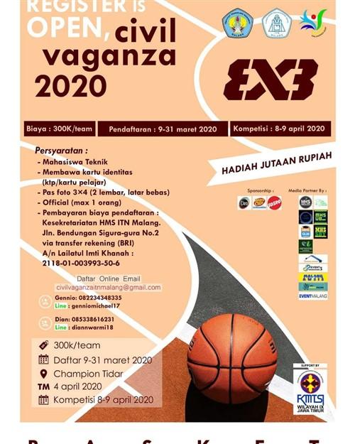 Civil Vaganza 2020 ITN Malang