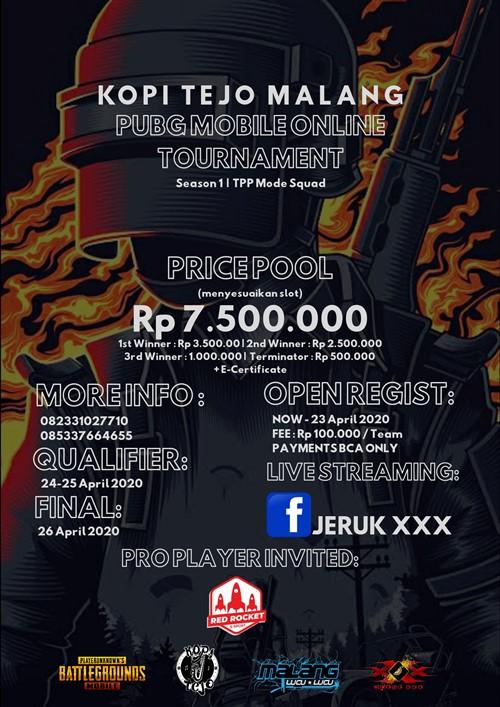 Kopi Tejo Malang PUBG Mobile Online Tournament