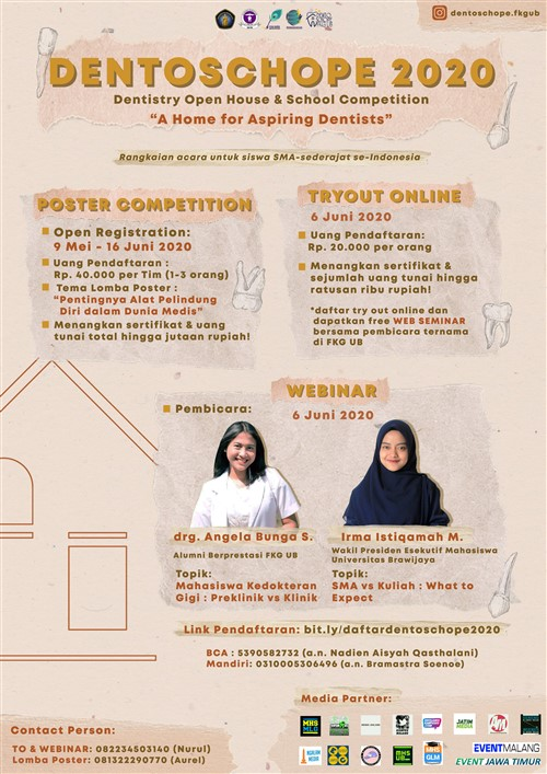 Dentoschope 2020, Dentistry Open House & School Competition