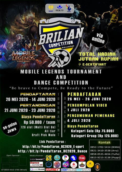 Brilian Competition 2020 : Be Brave To Compete, Be Ready To The Future