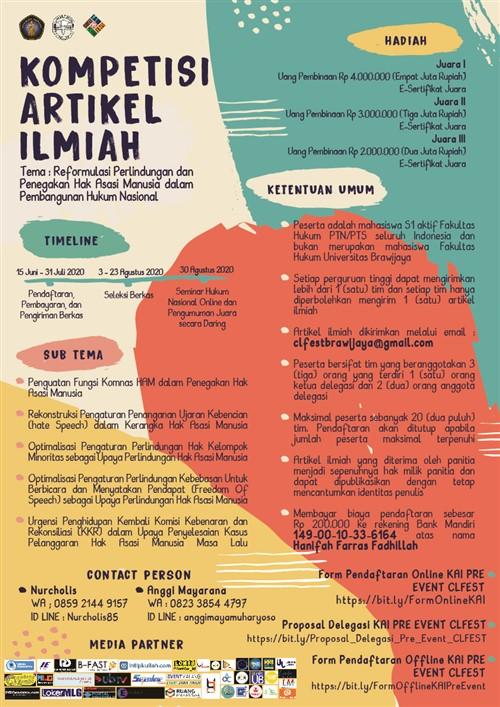 Pre-Event Constitutional Law Festival : Kompetisi Artikel Ilmiah