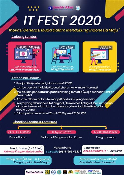"""IT FEST 2020 : """"Generasi Muda dalam Mendukung Indonesia Maju"""""""