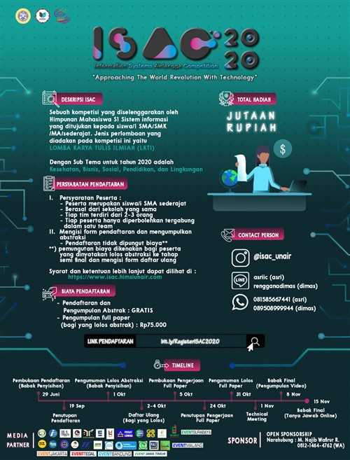 ISAC 2020 : Information System Airlangga Competition