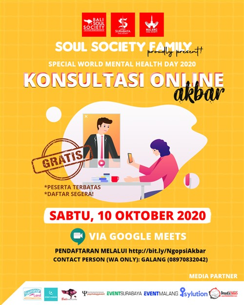 Special World Mental Health Day 2020 Konsultasi Online Akbar Eventmalang